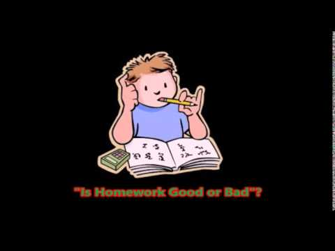 homework good or bad Good effects of homework homework is, in fact, a repetition of whatever is taught in school though some children complete this work during the free sessions in school, some of them take it to their homes.