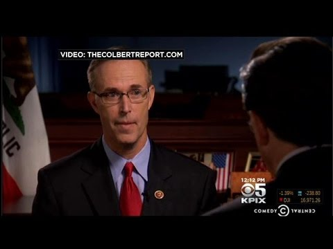 Bay Area Lawmaker Jared Huffman Holds His Own During Interview On 'The Colbert Report'