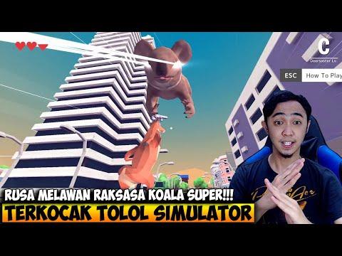 GAME TERKOCAK RUSA SUPER VS KOALA LASER RAKSASA - DEER SIMULATOR INDONESIA #2 - 동영상
