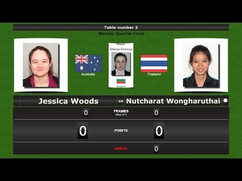 Snooker Women 1/4 Final : Jessica Woods vs Nutcharat Wongharuthai