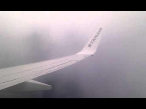 Heavy Turbulence over Ireland on Ryanair flight ...