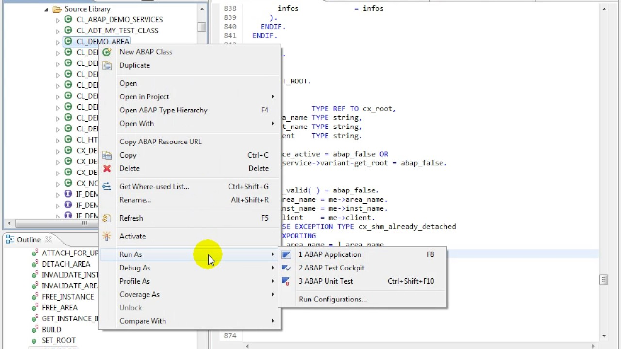 ABAP in Eclipse Tutorials - Navigating to and from SAP GUI