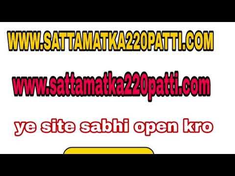 Morning syndicate open and jodi 220patti,220 patt,morning satta 08/01/2019  mangalwar