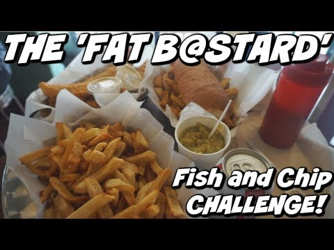 GIANT BRITISH FISH AND CHIP CHALLENGE! NYC | Man Vs Food | A Salt And Battery