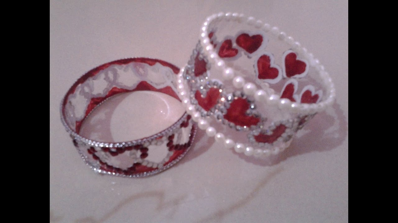 Best out of waste plastic bottle lovely heart bracelets for Latest best out of waste