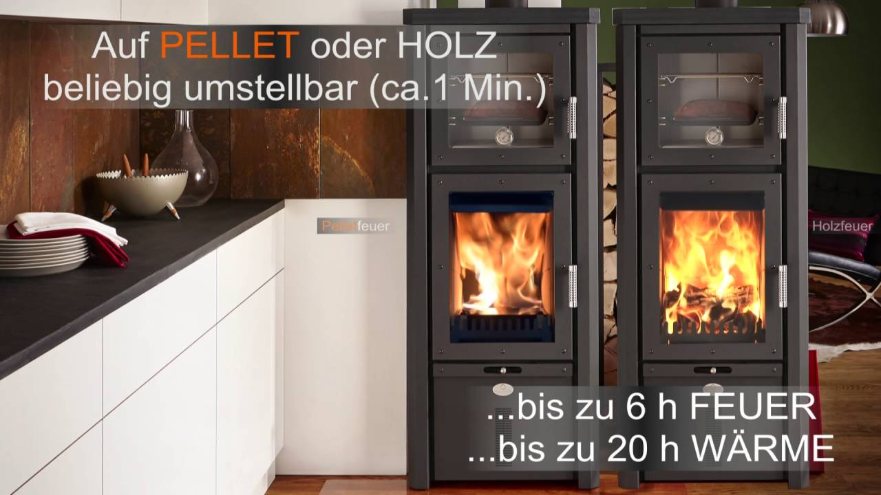 pelletofen stromlos als pellet holz kombi kamin fen oder stromloser kombiofen youtube. Black Bedroom Furniture Sets. Home Design Ideas