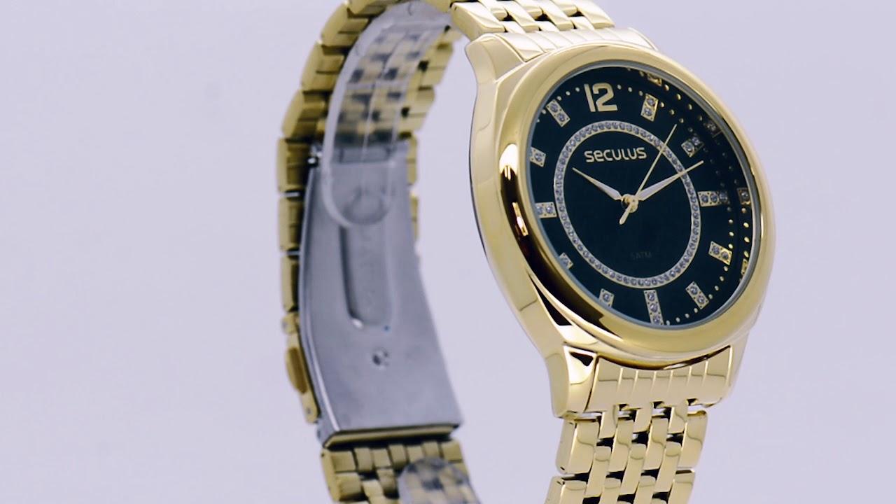 c4d905d22f1 Relógios Seculus Feminino 20566LPSVDS1 - Eclock - YouTube
