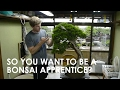 SO YOU WANT TO BE A BONSAI APPRENTICE?