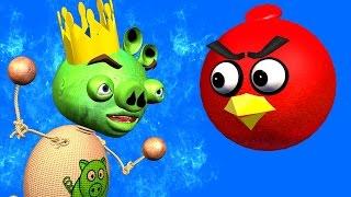ANGRY BIRDS & BUDDYMAN KICK: Kick The Pig ♫ 3D animated  movie mashup  ☺ FunVideoTV - Style ;-))