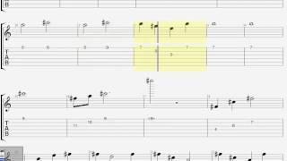 Как играть соло-1 «Лирика» гр. «Сектор газа» на гитаре