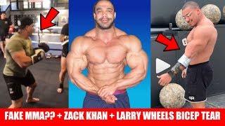 Larry Wheels Tears Biceps + Castleberry Trains for MMA Fight + Zack Khan is Back!