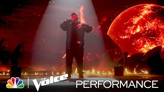"""Special Guest Masked Wolf Performs """"Astronaut in the Ocean"""" - The Voice Live Top 9 Results 2021"""