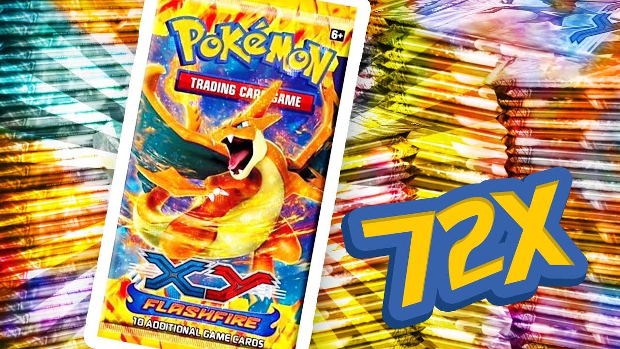Pokemon xy flashfire box opening 2 full boxes 72 booster packs