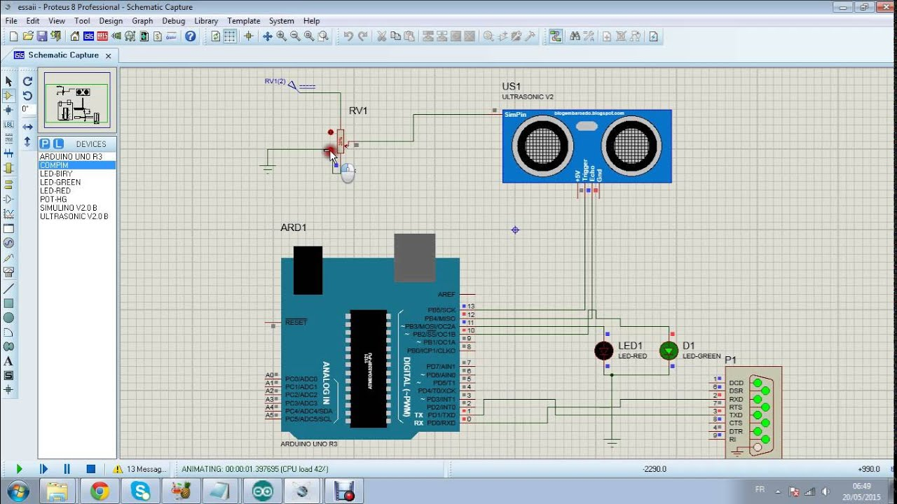 Arduino ultra sonic simulation proteus youtube