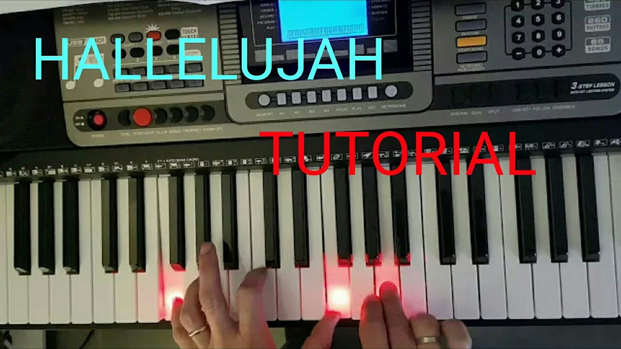 How to play Hallelujah - Cohen - piano tutorial - YouTube