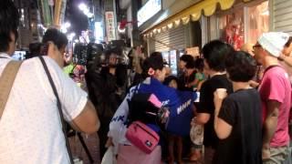 高円寺 ルック第1演舞場 もっとびー(MottoB)前 2015/8/30 飛び...