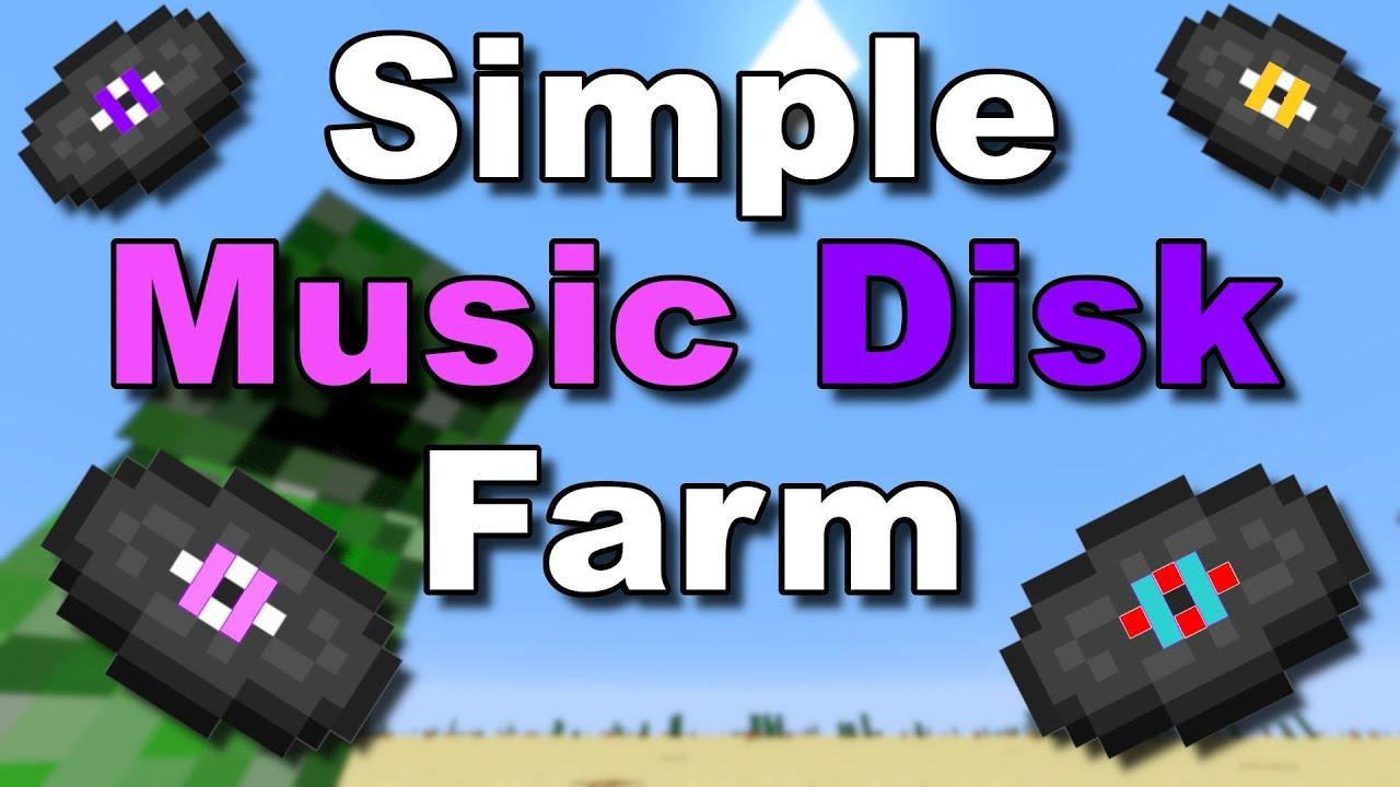 Easiest Farm Simple Music Disc Farm Minecraft Tutorial Youtube