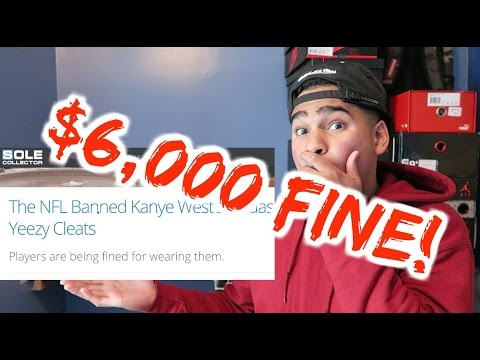 f9417e9074d ADIDAS YEEZY 350 CLEATS BANNED FROM THE NFL - YouTube