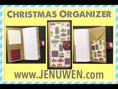 DIY Paper Christmas Planner/Organizer - JENUWEN PROJECT 20183