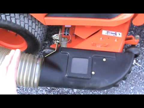 Kubota GCK60-23BX Power Flow Grass Bagger For BX Series Sub Compact Tractor  Loader