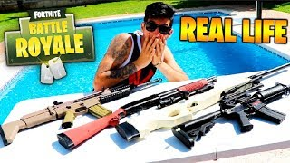 FORTNITE WEAPONS IN REAL LIFE!! Makiman