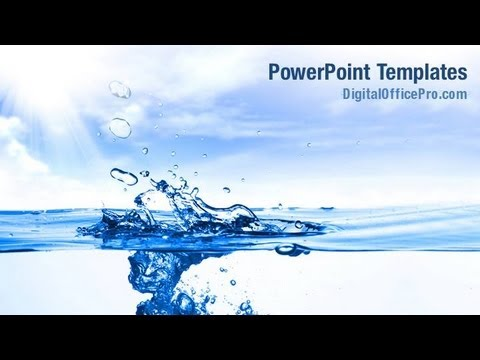 Crystal Clear Water Powerpoint Template Backgrounds