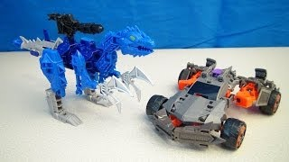 Transformers 4 Lockdown And Hangnail Construct Bots Dinobot Warriors Playset Build Video