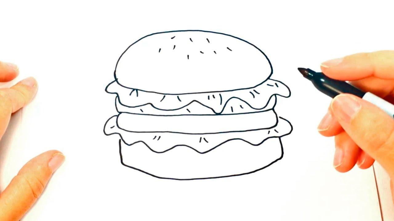 C mo dibujar una hamburguesa paso a paso dibujo f cil de - Dibujos unas de porcelana ...