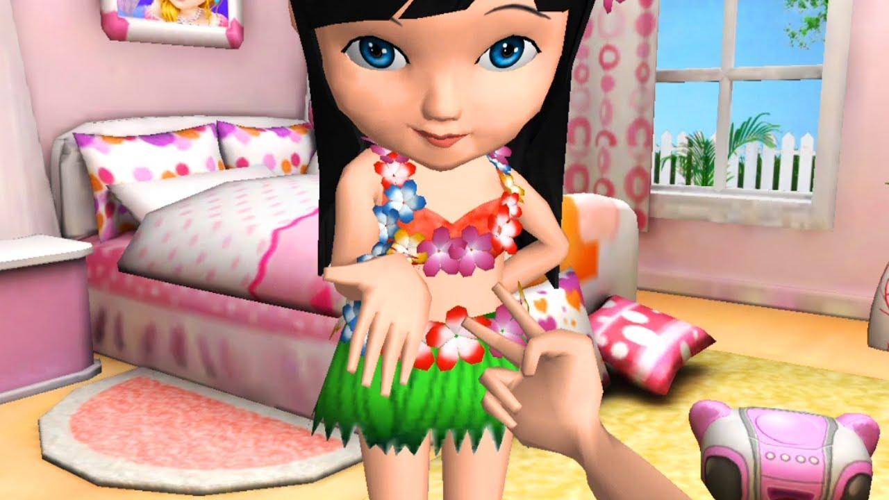 Permainan Anak Perempuan Ava Mandi Boneka 3d Berdandan Permainan Youtube