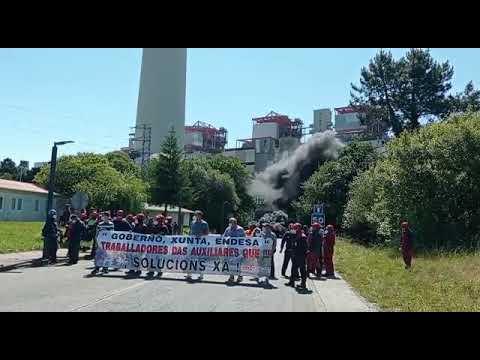 Nueva protesta de los trabajadores de las auxiliares de As Pontes