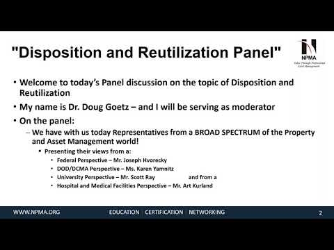 Disposition and Reutilization Panel Discussion