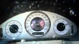 Met de E320 (2004) op de Autobahn