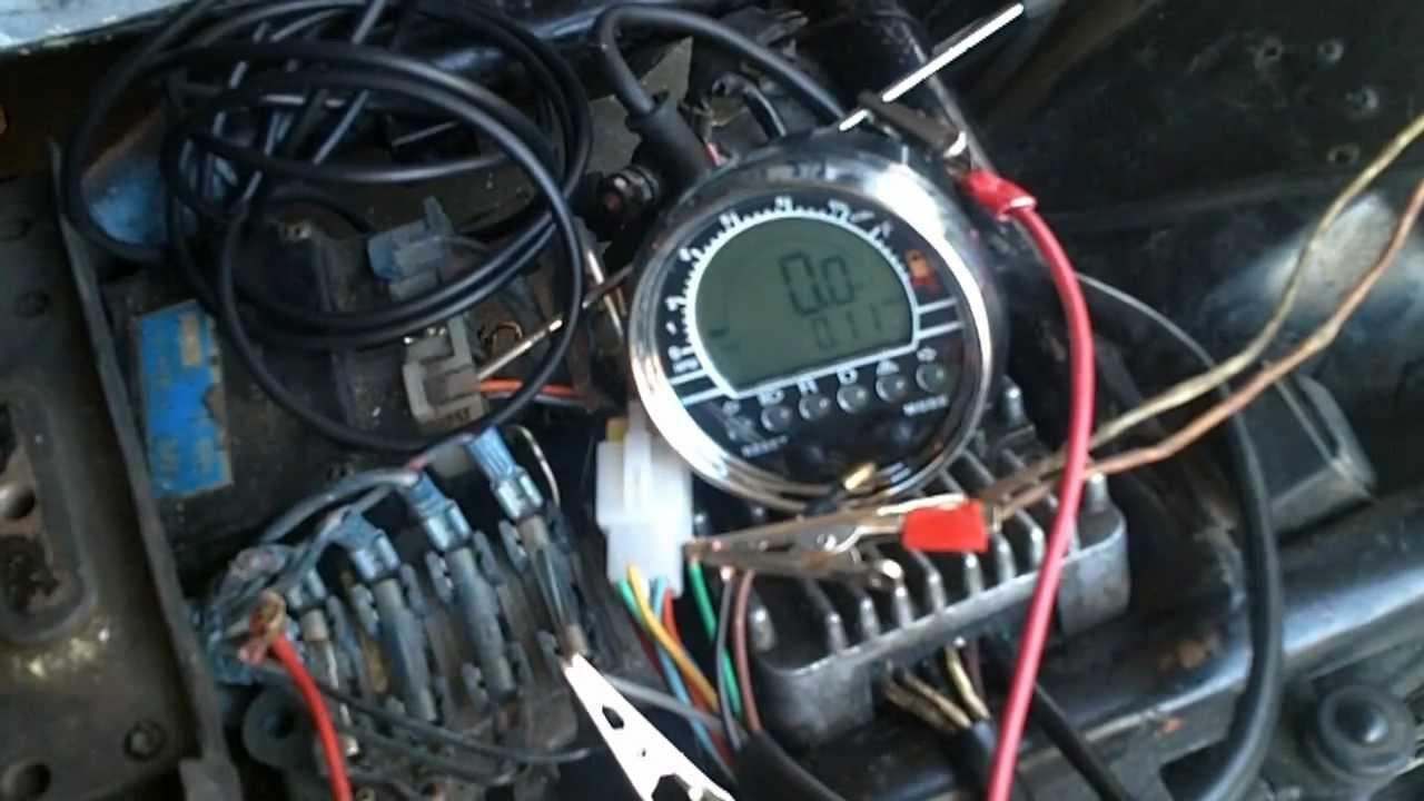 hight resolution of fixing up the xj550 episode 5 digital speedo tach