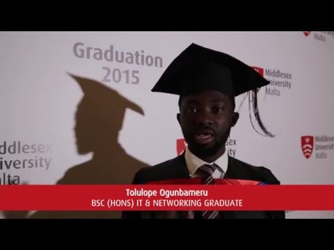 Middlesex Unviersity Malta Graduate 2015