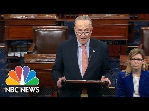 Sen. Chuck Schumer Responds To President Donald Trump's Tweets On Diversity Visa Program | NBC News