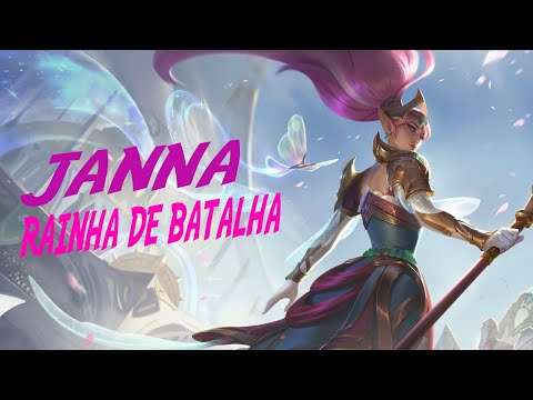 GAMEPLAY JANNA RAINHA DE BATALHA |LEAGUE OF LEGENDS| PBE SKIN