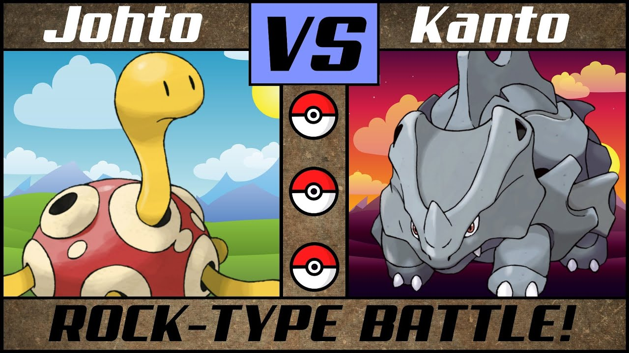 Rock Pokémon Battle: JOHTO vs KANTO
