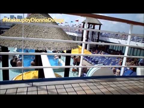 Getting On The Carnival Ecstacy Day Two|One Of The Cruise Ap