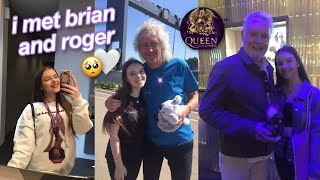 meeting brian may and roger taylor from queen (rhapsody tour vlog) 😭🤍