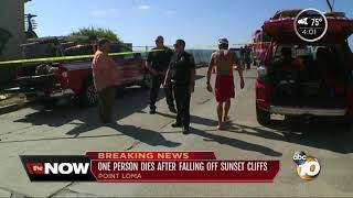 Woman dies in fall at Sunset Cliffs