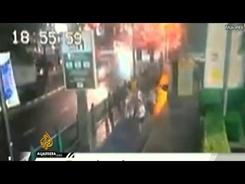 At least 18 people reported killed and 78 wounded in explosion at Ratchaprasong intersection, near shrine in Bangkok.