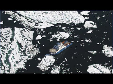 Drone helps ship navigate Arctic ice