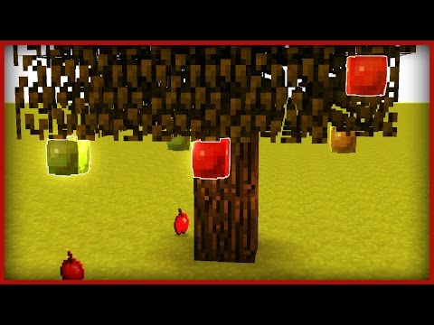 Minecraft: How To Make Apple Trees!