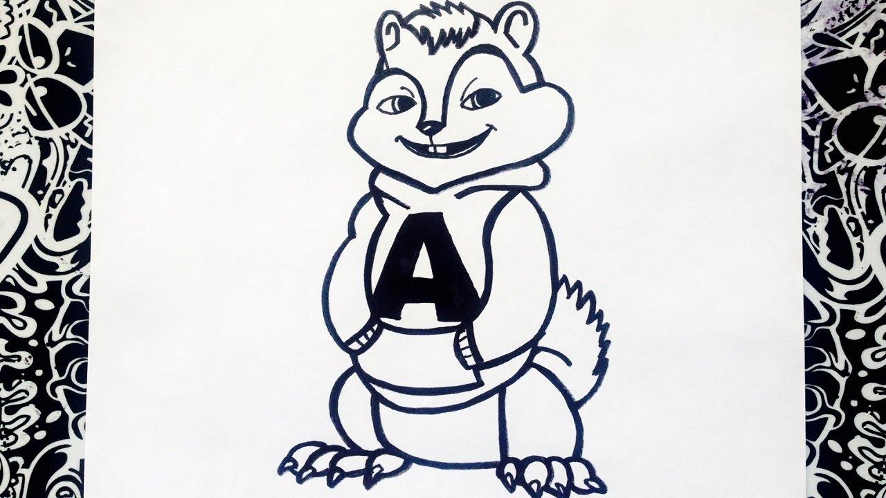 como dibujar a alvin y las ardillas paso a paso | how to draw alvin ...