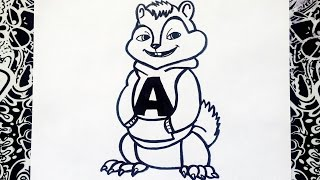 como dibujar a alvin y las ardillas paso a paso | how to draw alvin and the chipmunks
