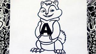 como dibujar a alvin y las ardillas paso a paso | how to draw alvin and the chipmunks