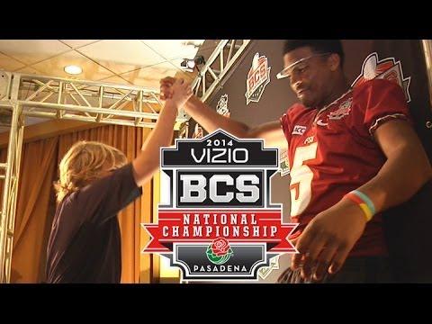 Jimbo Fisher's Son Trey & Jameis Winston Practice Handshake | FSU's Road To The BCS Championship