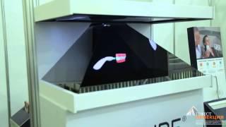 Брендированная голографическая пирамида для компании