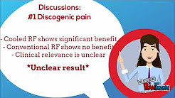 Radiofrequency ablation for chronic low back pain