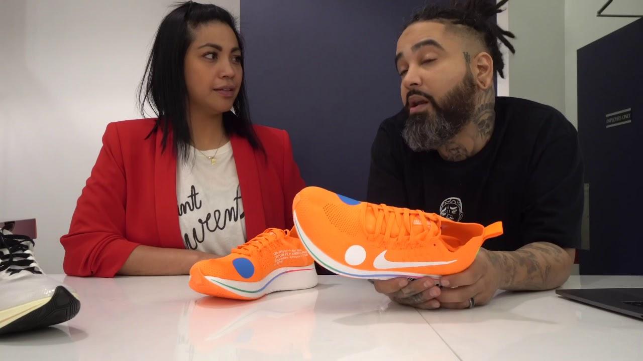 grano Deshonestidad feo  Nike Off White Zoom Fly Mercurial Review - YouTube